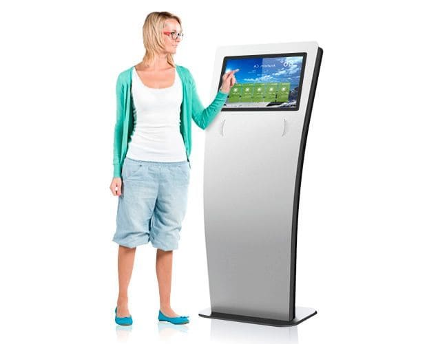 Con nuestros Totems/Kioscos Interactivos podrás también incluir publicidad gracias a su función de multizona